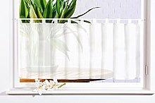 Gardinenbox 61070 Plain Voile Panel Curtain Plain