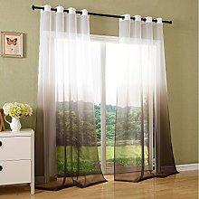 Gardinenbox, transparent colour gradient curtain