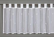 Gardinia Bistro Curtain 48 x 140 cm White