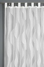 GARDINIA Scherli Transparent Tab-Top Curtain with