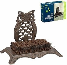 Gardman Owl Cast Iron Boot Shoe Scraper Brush