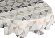 Gareth Tablecloth Mikado Living Colour: Brown/Grey