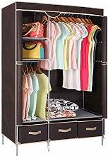 Garment Rack, Canvas Wardrobe Cupboard Clothes