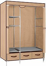 Garment Rack, Canvas Wardrobe Cupboard Clothes