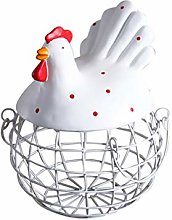 Garneck Egg Storage Basket Chicken Shape Vintage