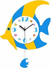 Garneck Fish Pendulum Wall Clock Nautical Beach 3D
