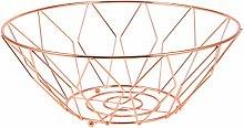Garneck Metal Wire Fruit Basket Iron Round Storage