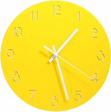 Garneck Round Hanging Clock Painting Wall Clock