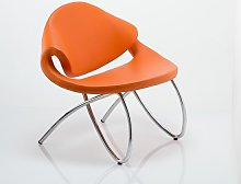 Garner Visitor Office Chair In Orange Bonded