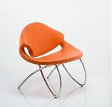 Garner Visitor Office Chair In Orange Bonded