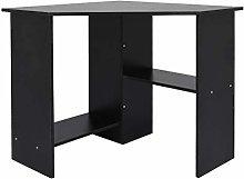 Garonare Corner Desk for Home Office, Black