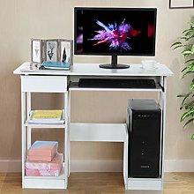 Garonare Desk for Home Office, White Computer Desk