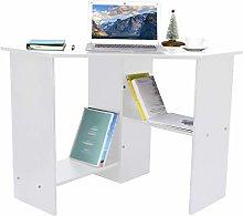 Garonare White Corner Desk, Modern Minimalist Desk