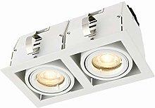 Garrix Matt White Twin Adjustable Tilt GU10 LED