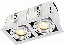 Garrix Silver Twin Adjustable Tilt GU10 LED Mains