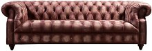 Gary Leather 4 Seater Chesterfield Sofa Williston