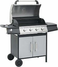 Gas Barbecue Grill 4+1 Cooking Zone Steel &
