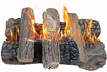 Gas Fireplace Logs, Large Ceramic Logs for Gas
