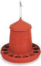 Gaun Plastic Poultry Feeder (4kg) (Red)