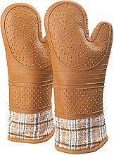 Gauntlet Heat Resistant Oven Gloves Extra Long