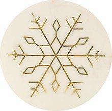 GAURI KOHLI White Marble Cheese Plate/Trivet with
