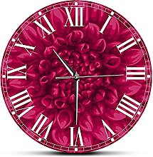 GAVA Kitchen clock Beautiful Pink Dahlia Large