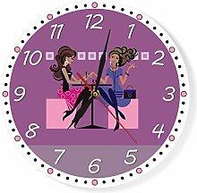 GAVA Kitchen clock Nail Salon Printed Wall Clock