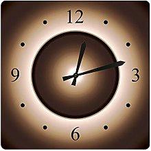 GAVA Kitchen clock Tan Brown Moon Effect Printed