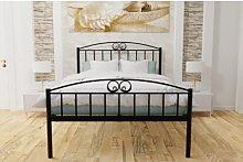 Gavarnie Bed Frame Lily Manor Colour: Black, Size: