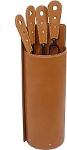 Gavemo Leather and Steel Fireplace Tool Sets
