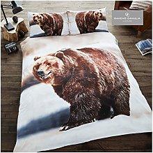 Gaveno Cavailia Animal Print 3D Bear King Duvet
