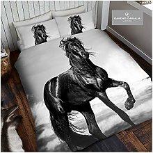 Gaveno Cavailia Animal Print 3D Black Horse Double