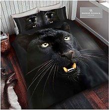 GAVENO CAVAILIA Animal Print 3D Black Panther