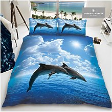 Gaveno Cavailia Animal Print 3D Dolphin King Duvet