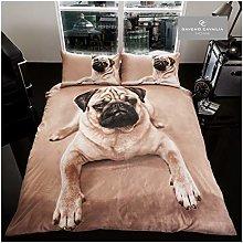 Gaveno Cavailia Animal Print 3D Pug Dog King Duvet