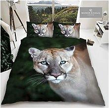 Gaveno Cavailia Animal Print 3D Puma Double Duvet