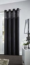 Gaveno Cavailia Eyelet Aviv Door Curtain Black,