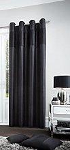 Gaveno Cavailia Eyelet Fuel Door Curtain Black,