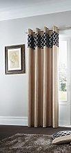 Gaveno Cavailia Eyelet Shiny Print Door Curtain