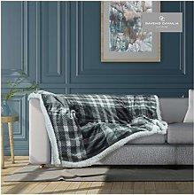 Gaveno Cavailia Flannel Sherpa Throw Sofa Bed