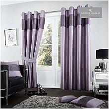 Gaveno Cavailia Fuel Eyelet Curtains Mauve, 100%