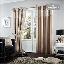 Gaveno Cavailia Fuel Eyelet Curtains Mink, 100%