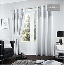 Gaveno Cavailia Fuel Eyelet Curtains Silver, 100%