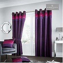 Gaveno Cavailia La Moda Eyelet Curtains Plum, 100%