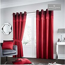 Gaveno Cavailia La Moda Eyelet Curtains Red, 100%