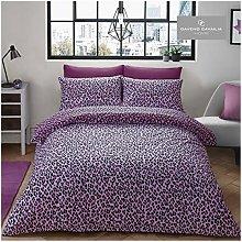 GAVENO CAVAILIA Leopard Skin Duvet Set Single Pink