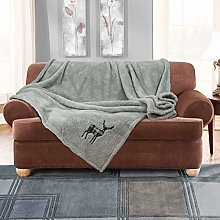 Gaveno Cavailia Luxury Emb Teddy Stag Throw, Extra