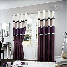 Gaveno Cavailia Panama Eyelet Curtains Aubergine,