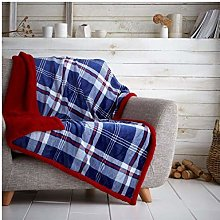 Gaveno Cavailia Teddy Tartan Check Fleece Throw,