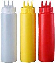 GAXQFEI 1 Piece 3 Hole Squeeze Bottle Plastic Oil